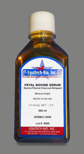SFBM31 -- Sterile Filtered Fetal Bovine Serum, Charcoal Stripped, USDA Approved Mexican Origin