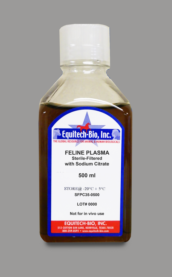 SFPC35 -- Sterile Filtered Feline Plasma with Sodium Citrate