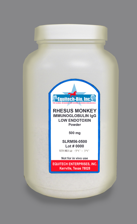 SLRM56 -- Rhesus Monkey IgG Lyophilized >= 97% Purity
