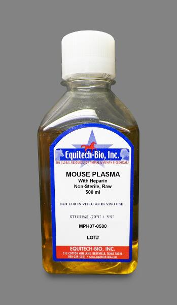 MPH07 -- Non-Sterile Mouse Plasma with Heparin