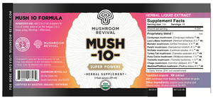 Mush 10 | Organic Mushroom Tincture for Immunity & Health