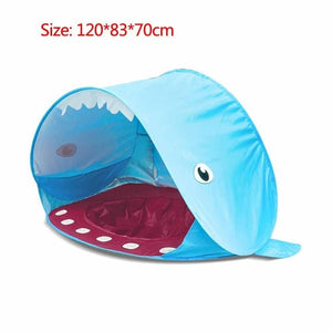 Blue shark baby sun shade