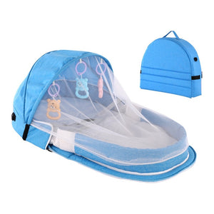 Portable Baby Bassinet with Sun Protection and Mosquito Net