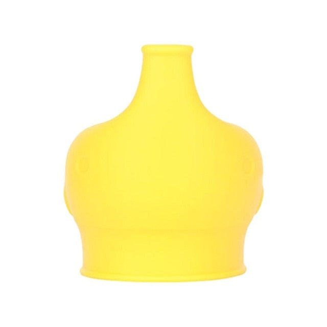 Yellow stretchy sippy cup