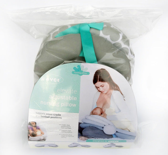 Adjustable nursing pillow packaging.
