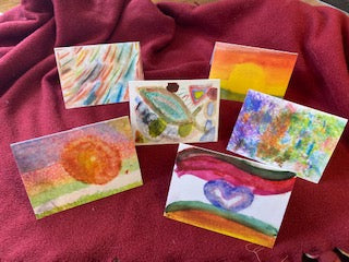 Farmer Inspired artistry on note cards
