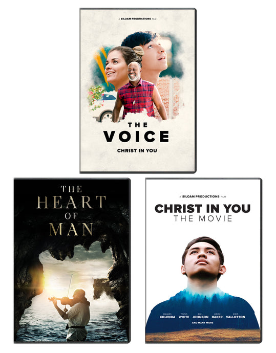 Christ In You: The Movie & The Voice, & The Heart of Man - DVD 3-Pack
