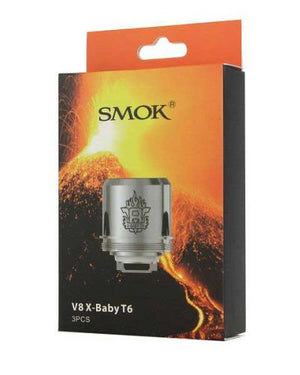 smok x baby coils t6(.2ohms) 3 pack