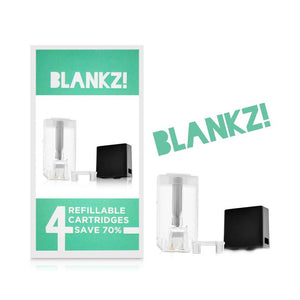 BLANKZ REPLACEABLE REFILLABLE PODS PACK OF 4