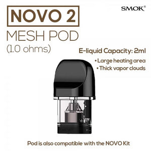 Smok Novo 2 1.0Ω Mesh Replacement Pods 3-Pack