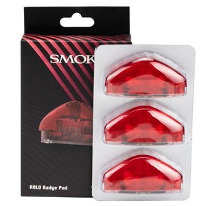 Smok Rolo Badge Pod 3-Pack Red