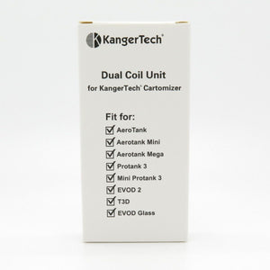 kangertech upgraded dual coils (1.0ohms) 5 pack