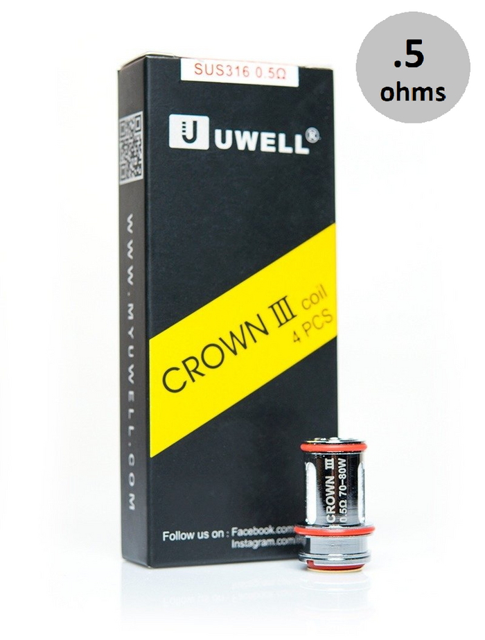 uwell crown 3 coils (.5ohms) 4 pack