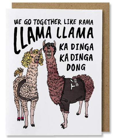 NANU Studio Llama Llama greeting card