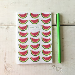 Jaunty Watermelons A6 Notebook