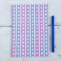 Wonky Anchor Stripes A5 Notebook