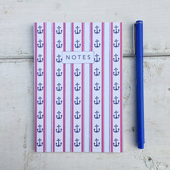 Wonky Anchor Stripes A6 Notebook