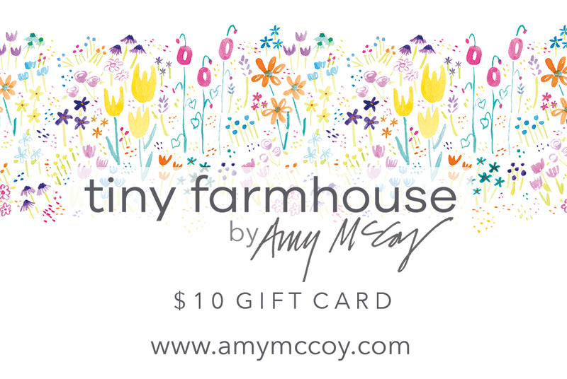 $10 gift card, tiny farmhouse store gift card
