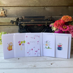 floral favorites cards set of 5 - tiny farmhouse by Amy McCoy