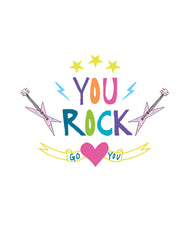 You Rock free printable card