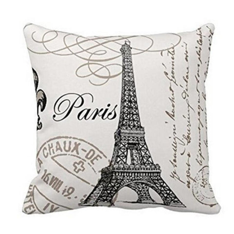 Eiffel Tower Pillow Case
