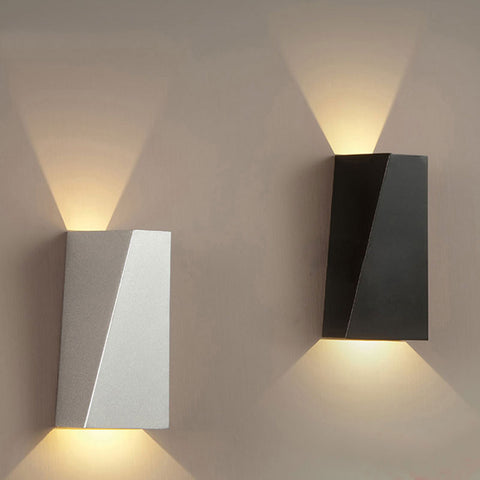 Dual-Head Geometry Wall Lamp