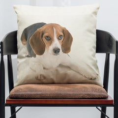 Pet Dog Animal Cotton Linen Throw Pillow Case Cushion Cover Home Decor
