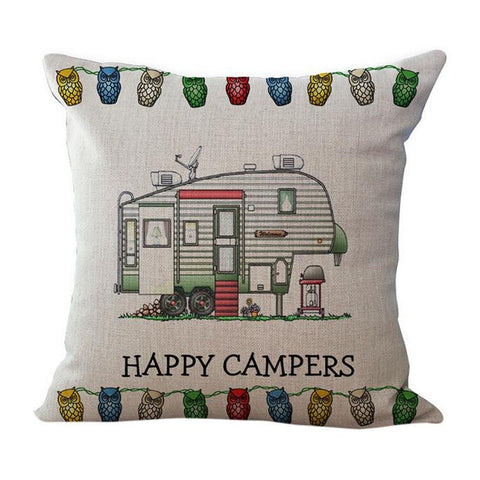 Happy Campers Pillow Case