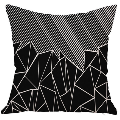 Abstract Print Pillow Case