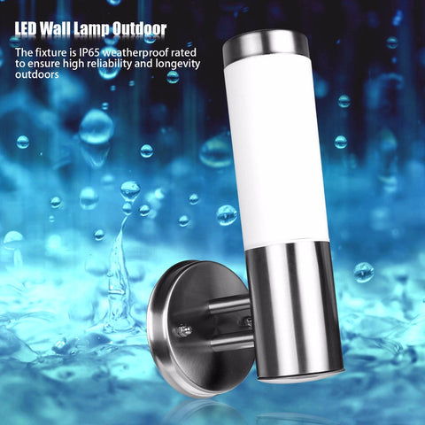 Stainless Steel E27 LED Wall Light