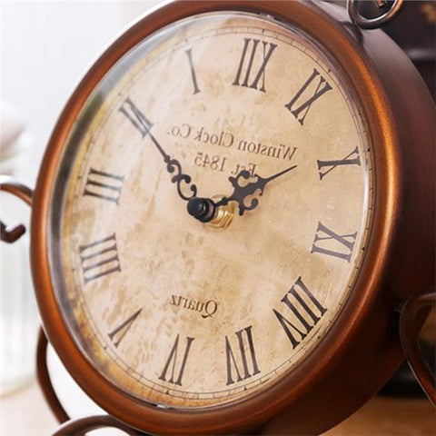 Vintage Wrought Iron Craft Table Clock