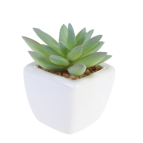 Cube Modern Potted Artificial Plant