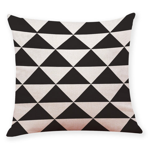 Home Decor Cushion Cover Black And White Geometry Throw Pillowcase Pillow Covers