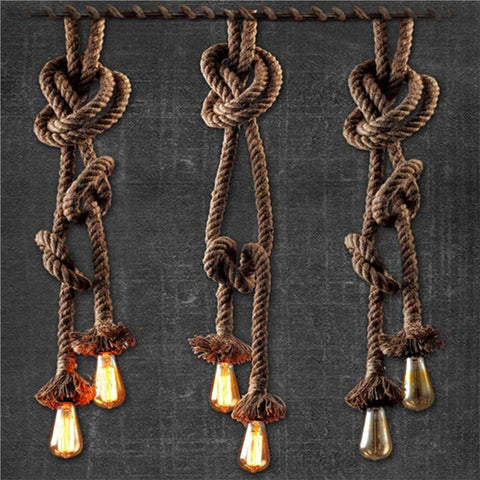 1.5M Rural Hemp Rope Chandelier