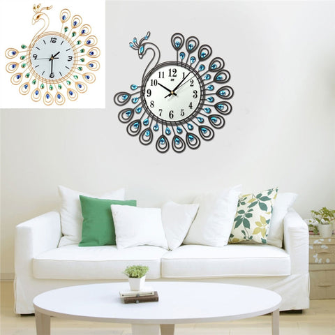 Luxury Peacock Wall Clock