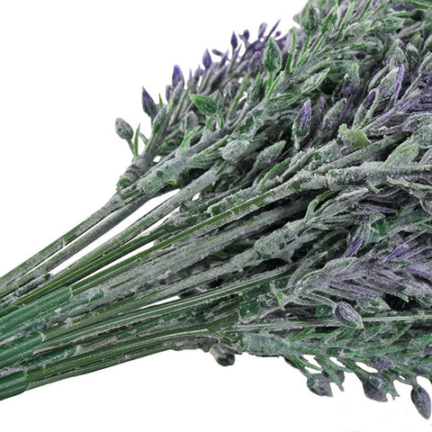 Artificial Flocked Lavender Bouquet