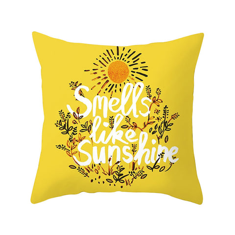 Yellow Pillow Case Decor