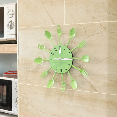 Modern Cutlery Wall Clock