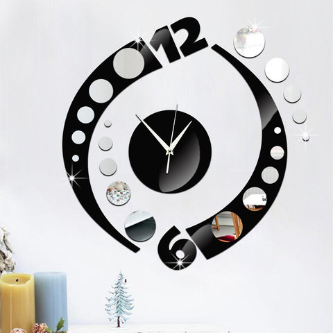 3D Frameless Wall Clock