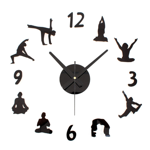 Yoga Pattern Wall Clock