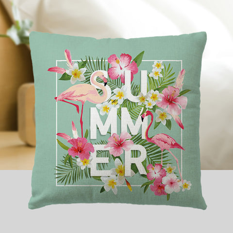 Flamingo Throw Pillow Cover