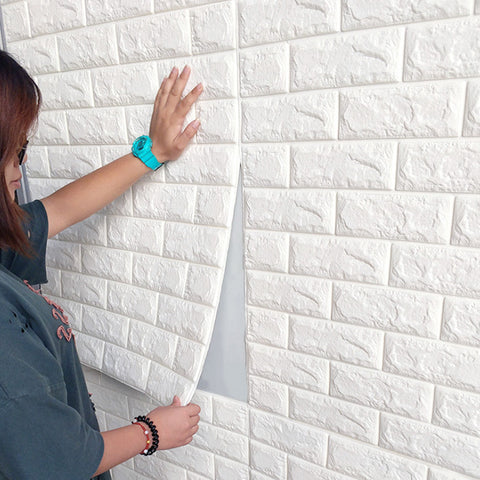 3D Brick Panel Decal Wallpaper