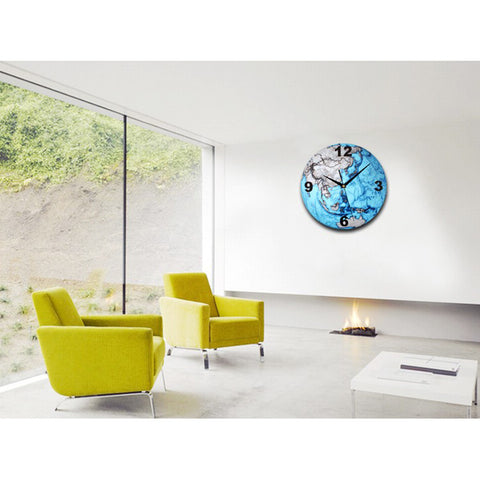 3D Earth Shaped Wall Clock