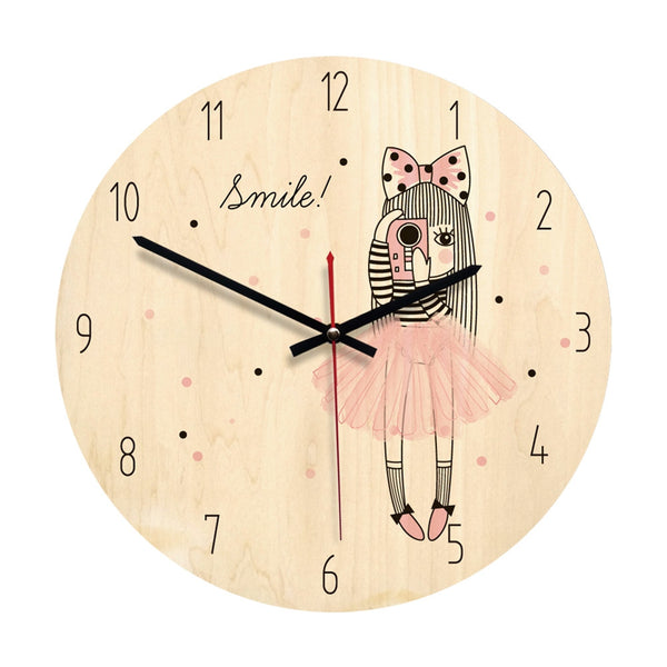 Nordic Style Wooden Wall Clock