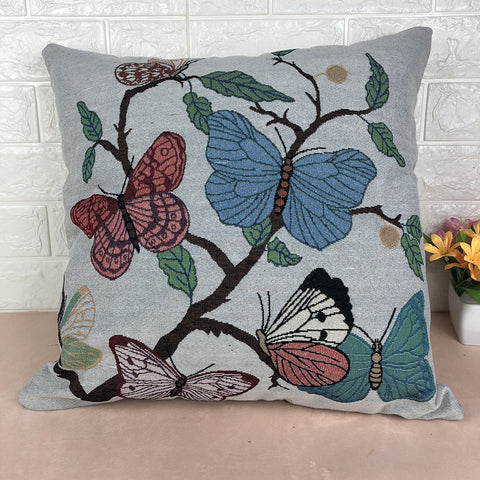 Butterfly Embroidery Pillow Case