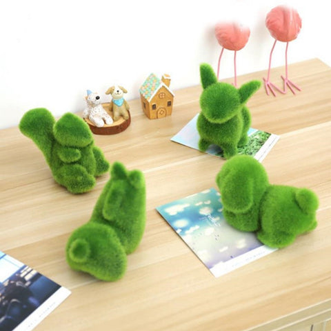 Artificial Grass Animal Shape Bonsai