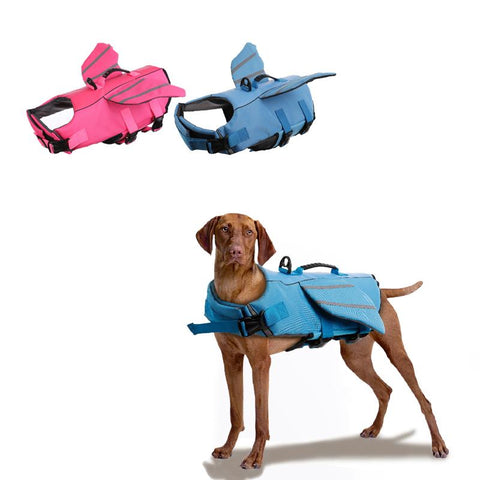 Brightly Colored Pet Life Jacket with Double Wings