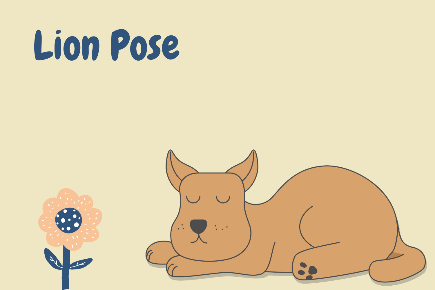 dog sleeping position lion pose