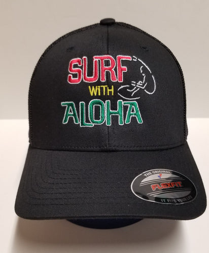 SURF WITH ALOHA RASTA - FLEXFIT Hat