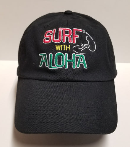 SURF WITH ALOHA - RASTA  Dad Hat